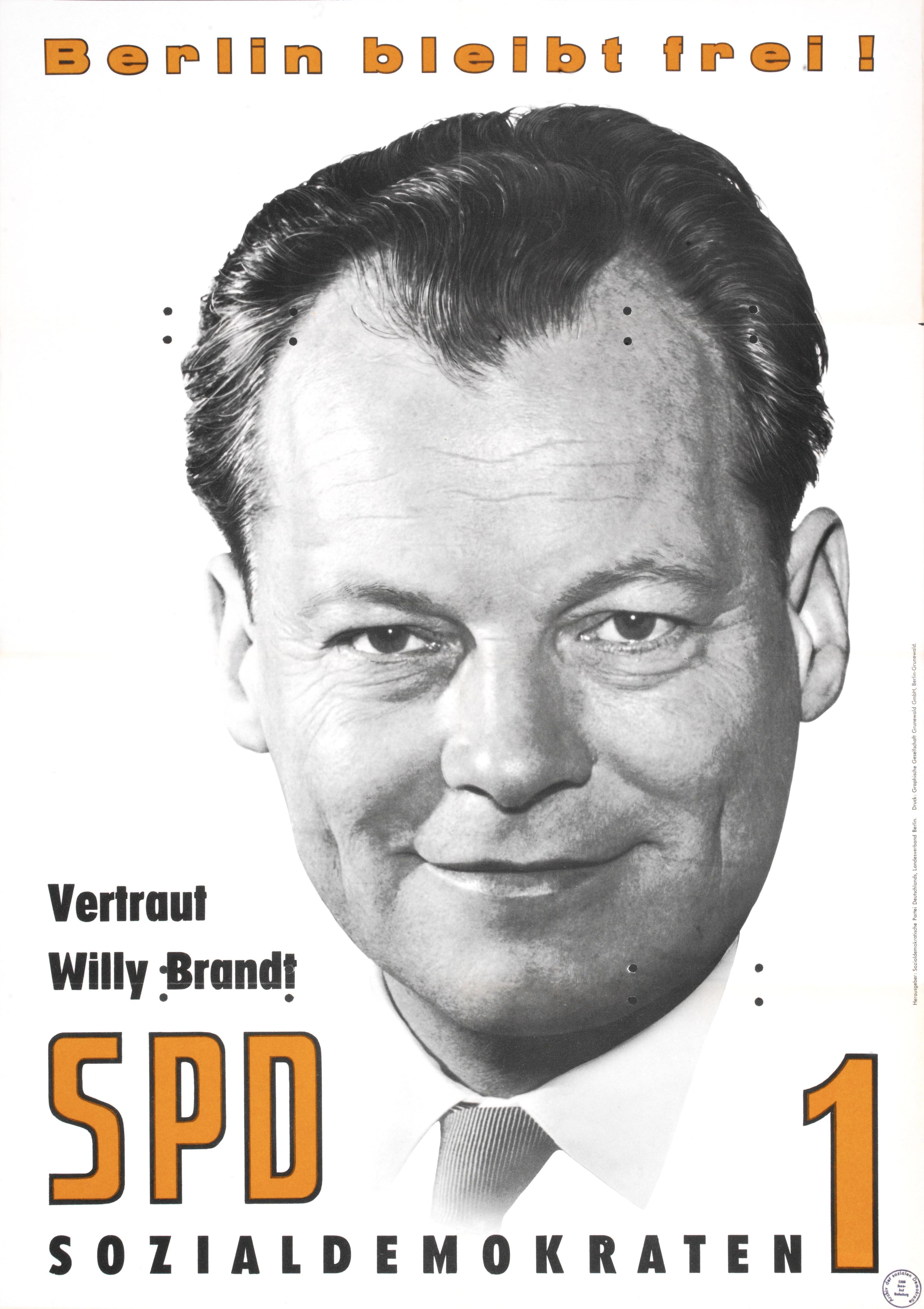 mrz 1963 wiederwahl willy brandts zum regierenden brgermeister von berlin - Willy Brandt Lebenslauf