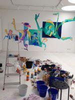 Tag fünf der Entstehungsphase der Kunstaktion von Klaus Hopf...